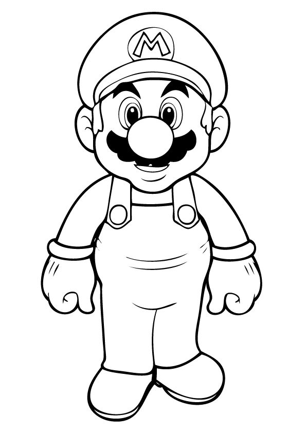 Free Printable Mario Coloring Pages For Kids | Deep thought | Super ...