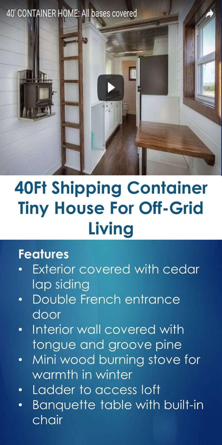 Shipping container homes living for the future earth911 com - 40ft Shipping Container Tiny House For Off Grid Living