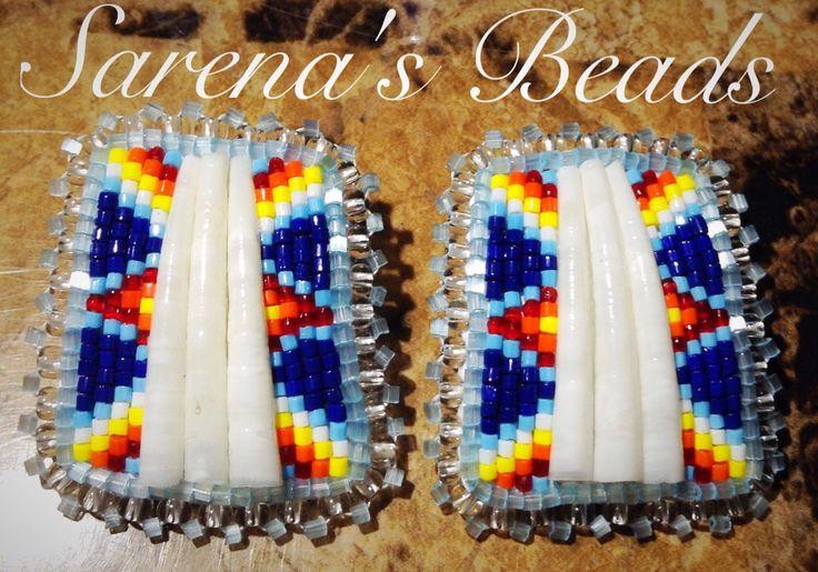 Beaded Earrings by Sarena Kingbird. Sarena's Beads on Facebook
