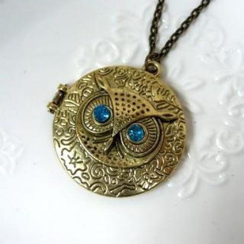 Owl Pendant Necklace Copper - One Size