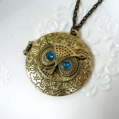 Owl Pendant Necklace Copper - One Size