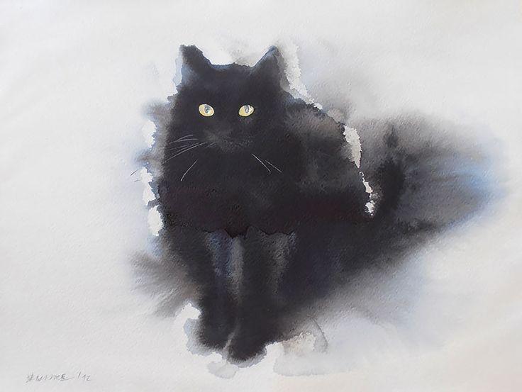 gatos-negros-acuarelas-tinta-endre-penovac (7)