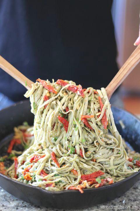 Spinach Spaghetti with Sun-Dried Tomatoes | Recipe | Sun ...