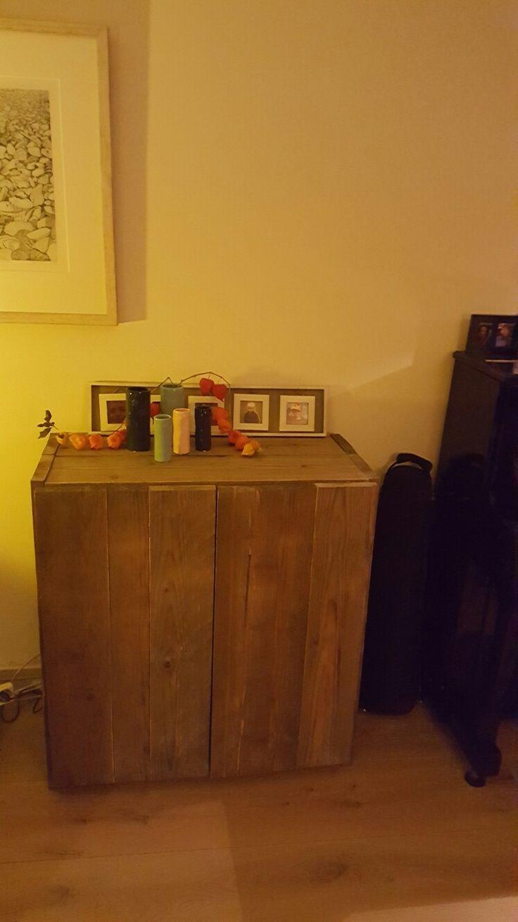 TV kast steigerhout
