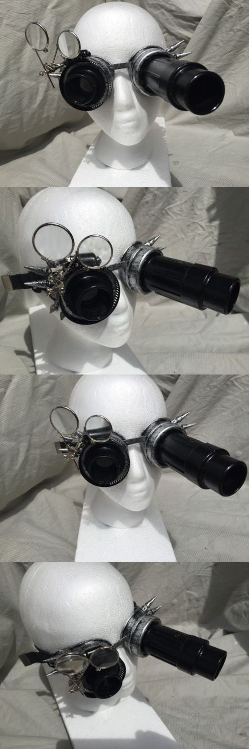 Other Theatrical Clothing 163149: Ancient Silver Metal Spike Steampunk Safety Goggles Cosplay Top Hat Lab Gear -> BUY IT NOW ONLY: $35 on eBay!