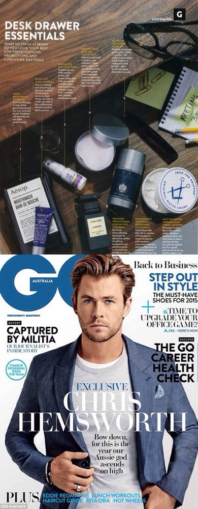 Gq Australia love Jack the Snipper's Original Matte Styling Creme. Featured in the February 2015 edition. Jack the Snipper, Aussie mens grooming brand, based in beach town of Byron Bay, Australia. Handsome devil, Mr Chris Hemsworth who recently moved to Byron Bay is on the cover.