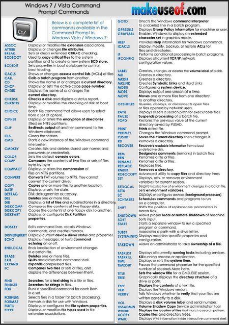 common windows commands