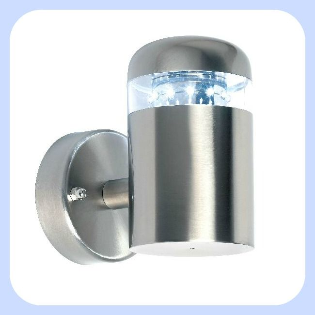 Endon Stainless steel rated wall lantern fitted with 12 white LED lamps117 best Outdoor lights  electrical  images on Pinterest   Outdoor  . Outdoor Led Spotlights Uk. Home Design Ideas