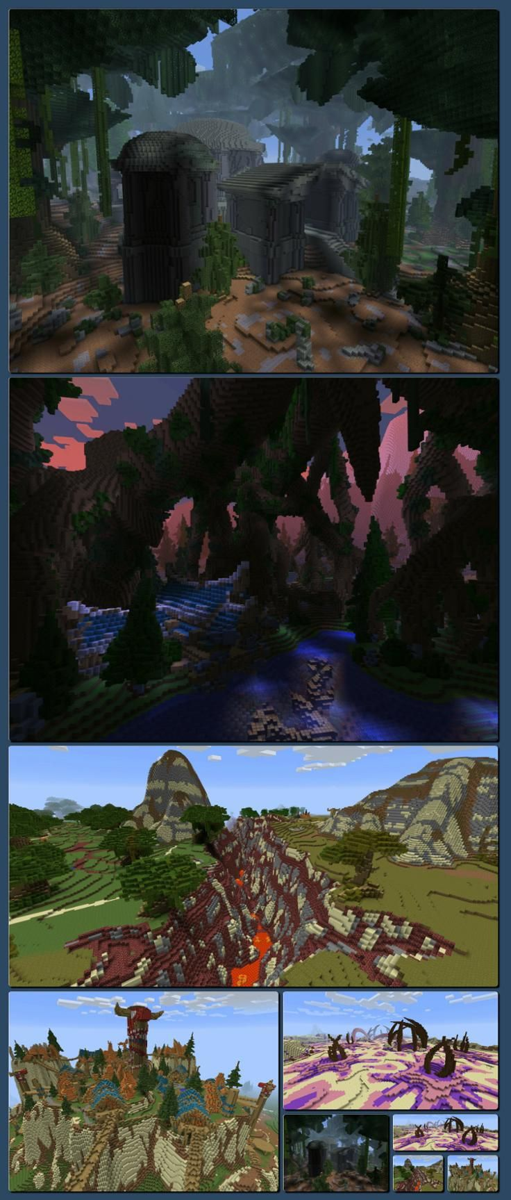 Industrious Minecraft Player Builds a 1:1 Scale World of Warcraft Map [Collage made with one click using http://pagecollage.com] #pagecollage