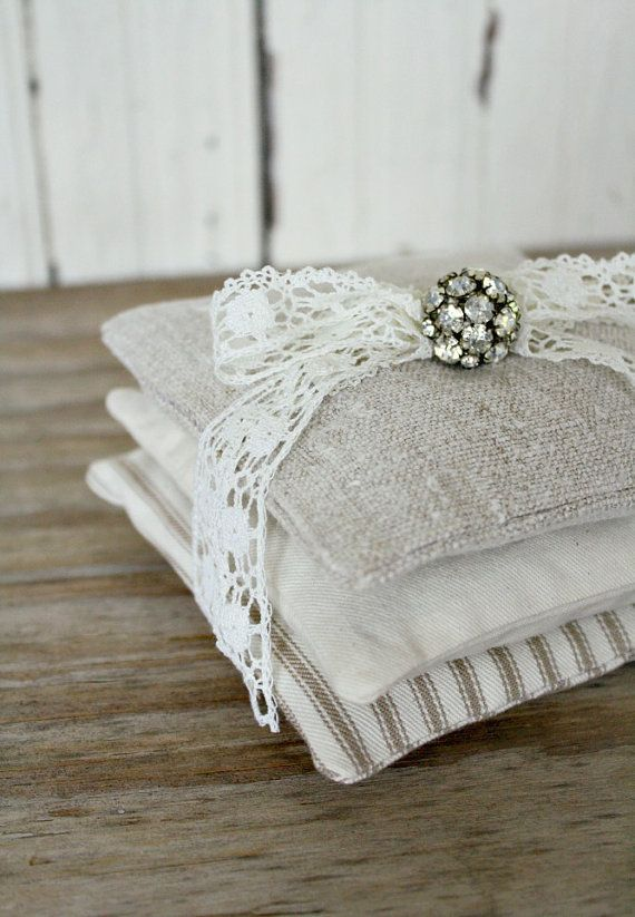 ~a delightful trio of lavender sachets, made  of 80-100 year old   hand loomed linen,  ticking, and canvas!    ~a treat for the senses,  these are filled with high  quality, organic, lavender flowers,  and are a generous  4 x 4    ~no fillers in these-just  pure aromatic lavender!  gently squeeze to release  more fragrance    ~use in drawers, linen closets, on the vanity, dresser, under your bed  pillow, in your clothes closet...    ~these make wonderful gifts  for any occasion, and this…