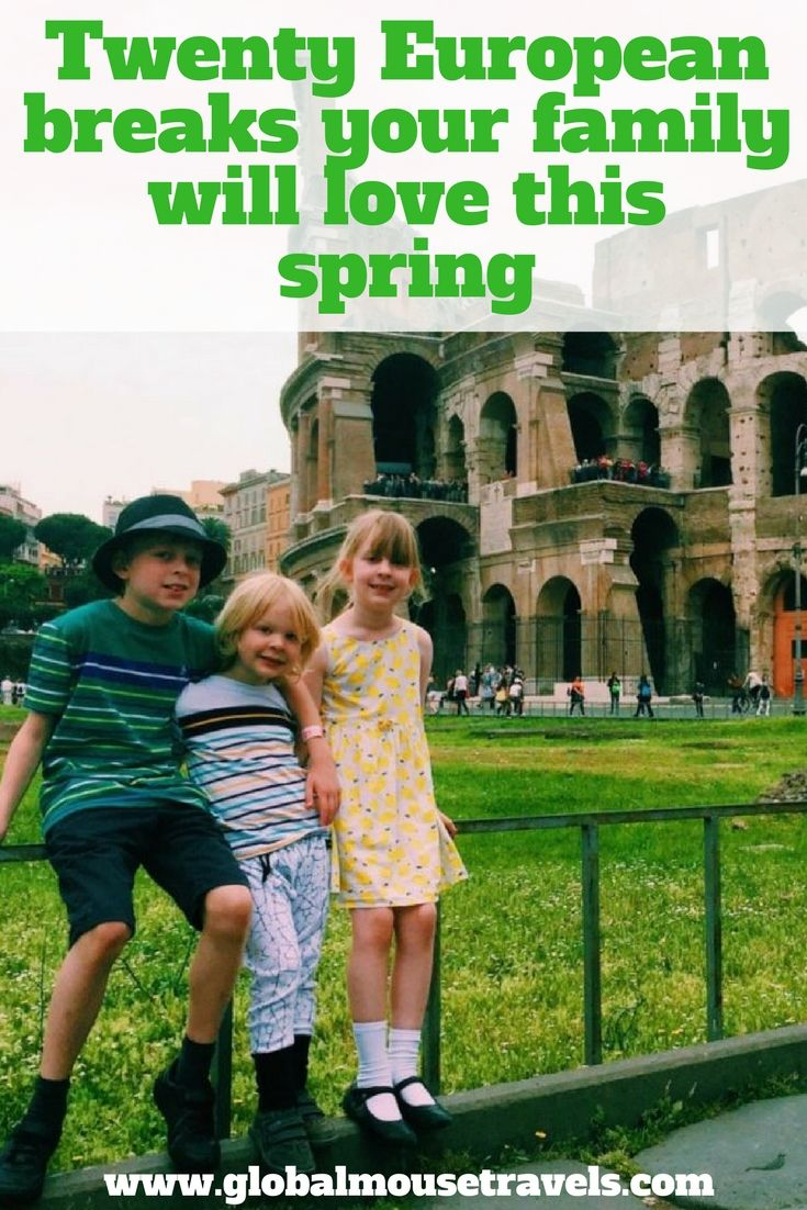 20 European breaks your family will love this spring, from the best places to visit in Italy in March, April and May to Spain, Portugal and also Slovenia and Corsica. These are all places kids will love and grown ups too.