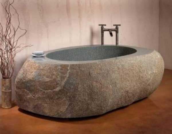 22 Natural Stone Bathtub Ideas for Your Classy Bathroom