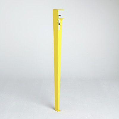 Magnifique table design avec pied de table, pied de meuble modulable et pied de table acier. Pied de table reglable et coloré