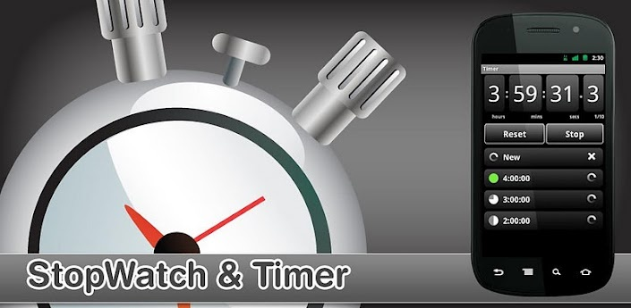 Clean, simple and reliable: StopWatch & Timer