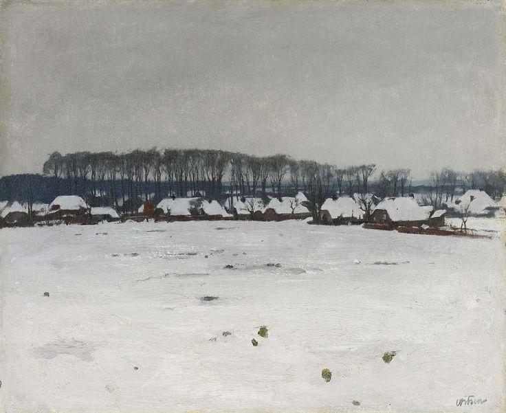 Winterlandschap, Willem Witsen, ca. 1885 - ca. 1922