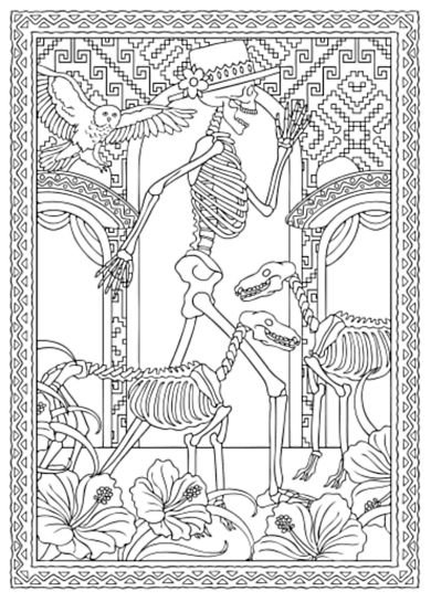 177 best Dia de Los Muertos  BLACK AND WHITE ART images on Pinterest - copy dia de los muertos mask coloring pages