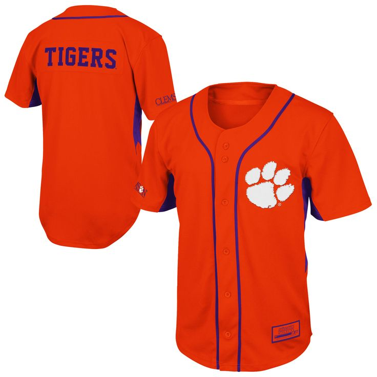 Clemson Tigers Fielder Baseball Jersey - Orange - XXL