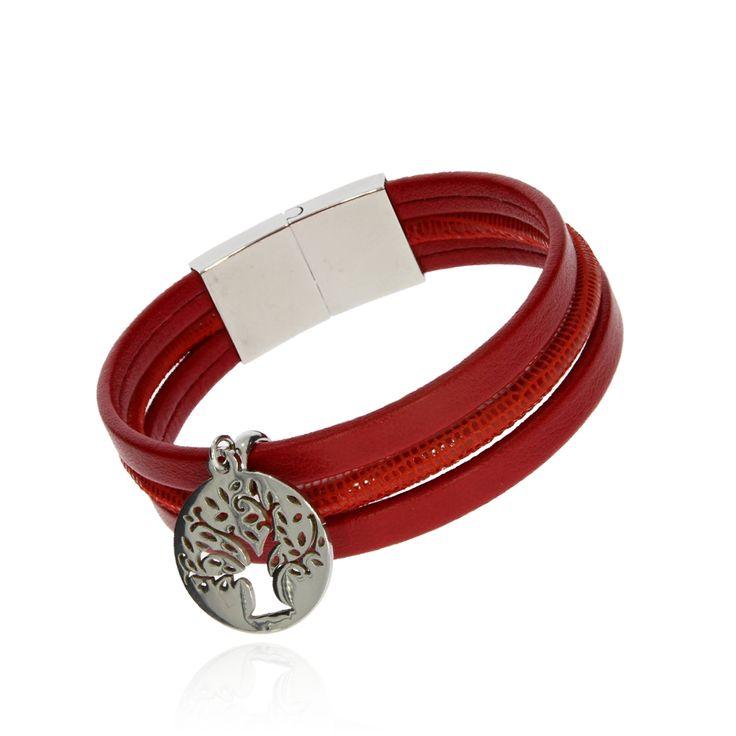 BRA 0034d - Czerwona - Aleksandra Strippentow Biżuteria Handmade