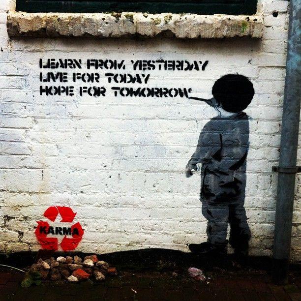 Karma Recycled Street ARt