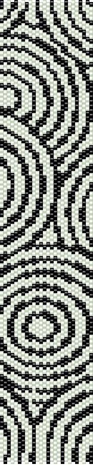 Pulsera telar patrón ondas