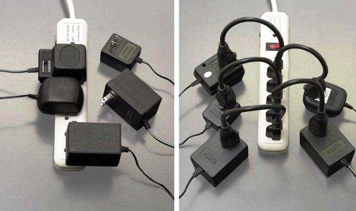 Gambar Foto colokan listrik dengan tambahan perangkat liberator
