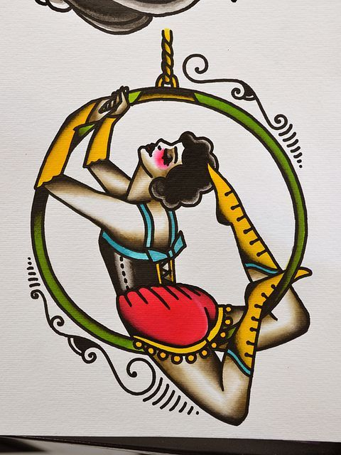 Circus tattoo Tattoos and body art and Circus theme on Pinterest