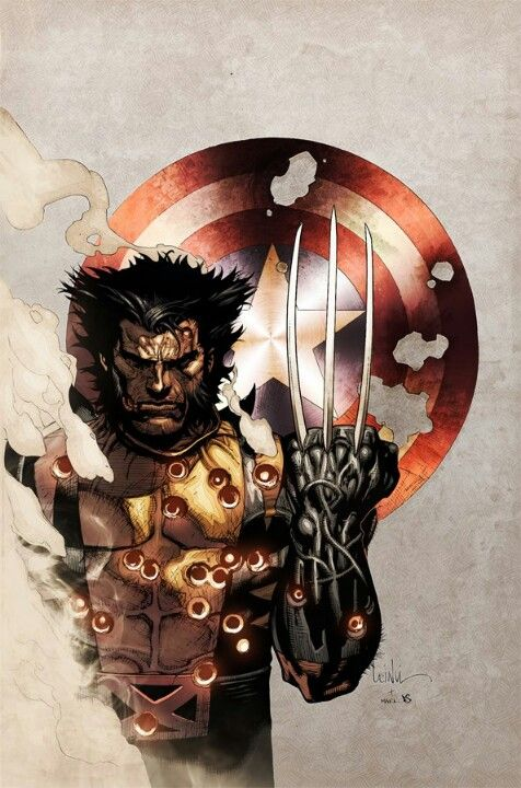 """Wølverine avec le Bouclier de """"Capitaine América"""" ~ [DC Comics] • Marvel…"""