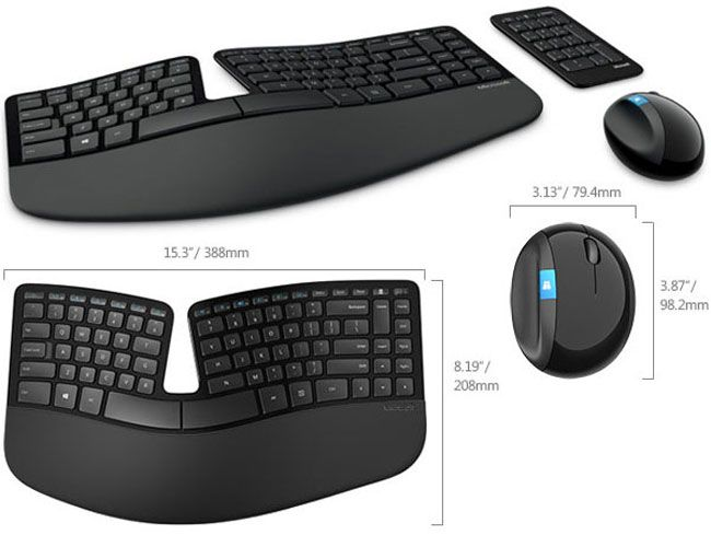 Microsoft Unveils New Generation Sculpt Ergonomic Keyboard and Mouse - The keyboard is wireless and uses 2.4 GHz technology and has a padded armrest and all the hotkeys for Windows 8 that you need. The Sculpt Ergonomic Mouse has a large integrated thumb rest and connects to the computer using wireless USB connectivity. $129.99 | Geeky Gadgets