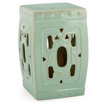 Check Out This Item At One Kings Lane! Square Garden Stool, Aqua