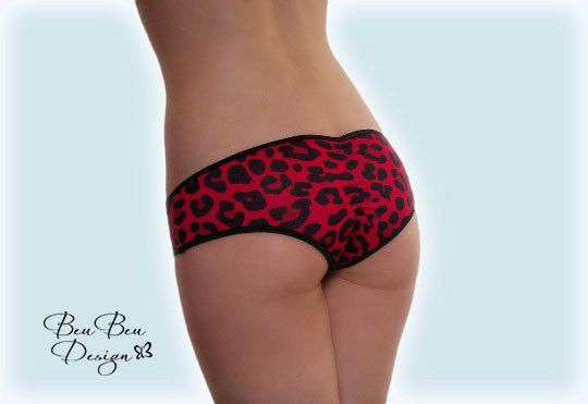 Leopard print hot pant panties briefs knickers by BeuBeuDesign