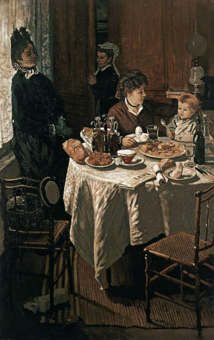 The Lunch 1868 Oil on canvas, 230 x 150 cm Städelsches Kunstinstitut, Frankfurt