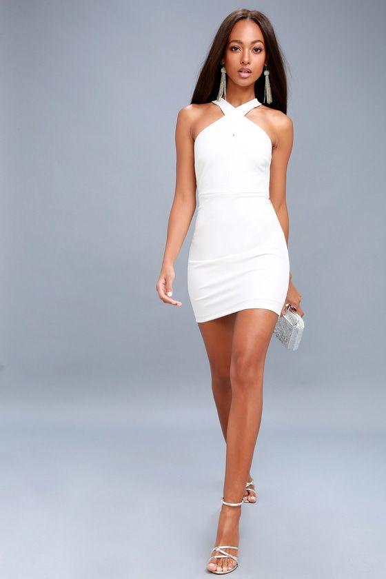 49832816c531ab Thrive White Sleeveless Bodycon Dress 2