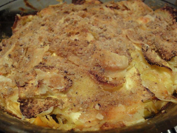 gratin navet boule d'or-pommes de terre