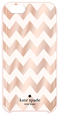 kate spade new york Chevron Pattern Hard Case for iPhone 6/6s, Rose Gold