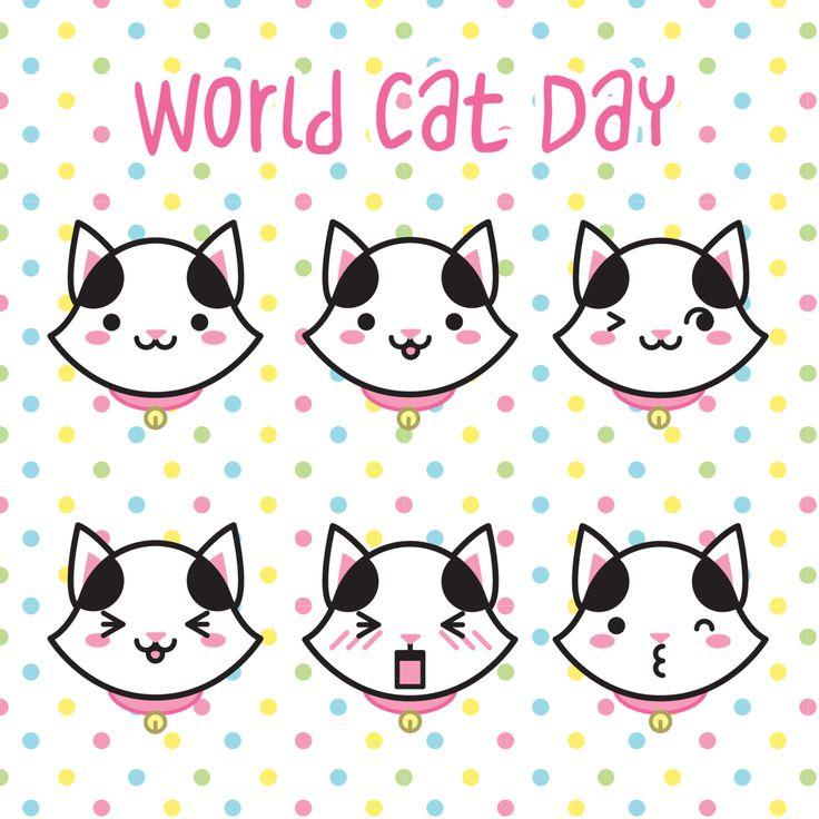 On this world cat day, the cutest cat also decided to give it's congratulations!! :3 happy World Cat Day to all kittens!!  – Nesse dia do gato, a gatinha mais fofa também resolveu dar os parabéns!! :3 Feliz dia do gato para todos os gatinhos!!