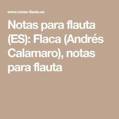 Notas para flauta (ES): Flaca (Andrés Calamaro), notas para flauta