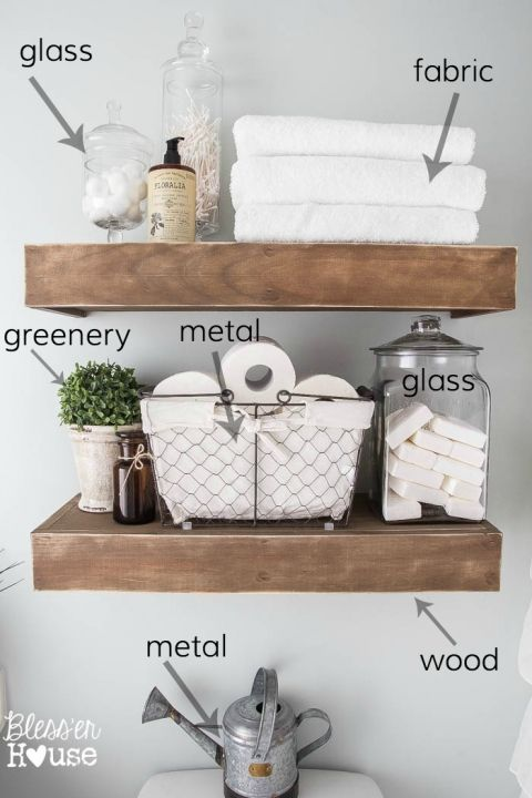 25+ Best Ideas about Bathroom Shelves on Pinterest  Half  ~ 061118_Bathroom Decorating Ideas For Over The Toilet