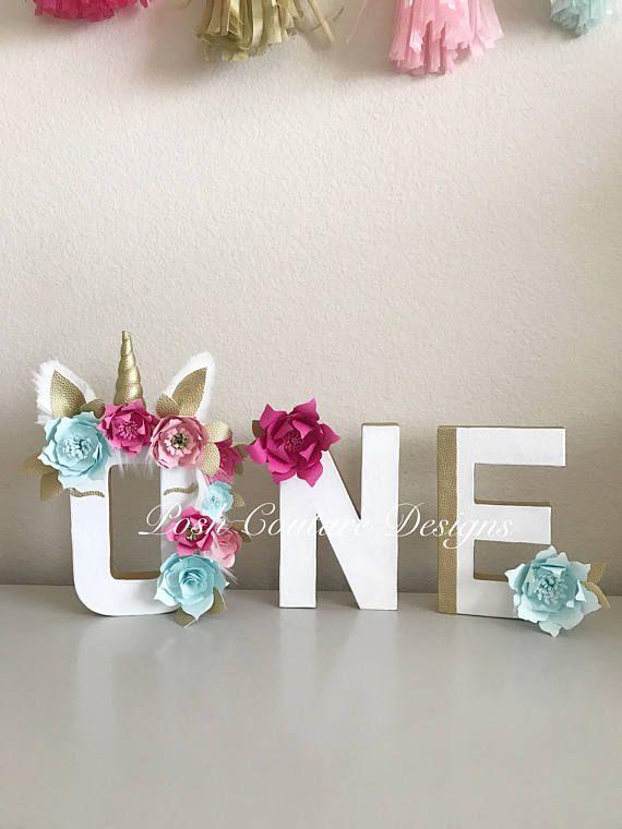 Licorne lettres / Licorne premier anniversaire / décorations