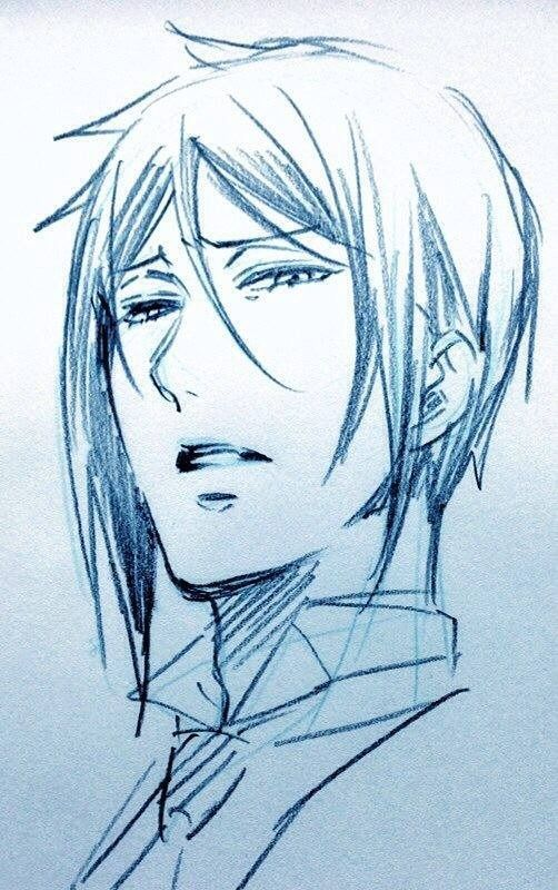 Black Butler, Sebastian Michaelis sketch. Not sure if this is Yana's or not, but it looks like it.: