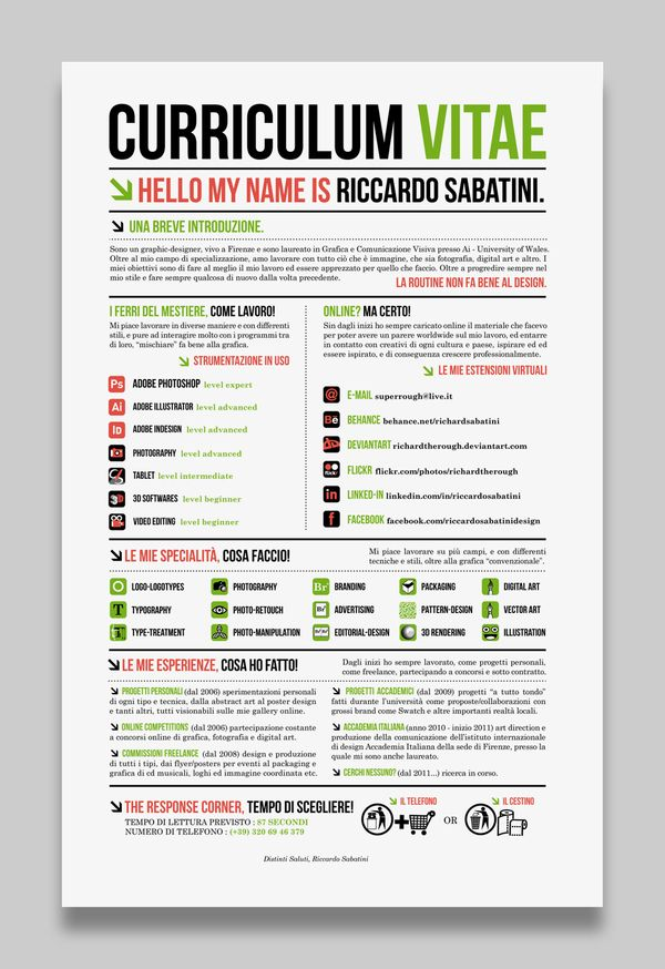 45 best CURRICULUM VITAE inspiration images on Pinterest Resume - resume or curriculum vitae