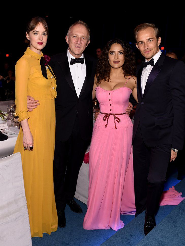 Pin for Later: LACMA Just Hosted the Ultimate A-List Party — and All Your Favorite Stars Were There Dakota Johnson, Francois-Henri Pinault, Salma Hayek, and Jesse Johnson