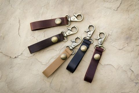 Keys are always easier to find and identify when there is something distinct about them! Made from top grain leather, these wonderful key loops will stand the test of time and will continually look better as they are tossed around, stuffed in your pockets, or crammed in your bag.  Why not have yours personalized? You can customize with a name, initials, or special date. All personalizations are laser engraved at Make Vancouver.