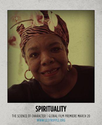 Maya Angelou has a great spirit. #CharacterDay