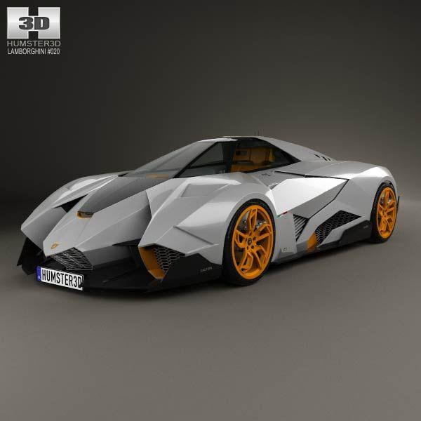 lamborghini egoista 2013 3d model - Lamborghini Egoista Police