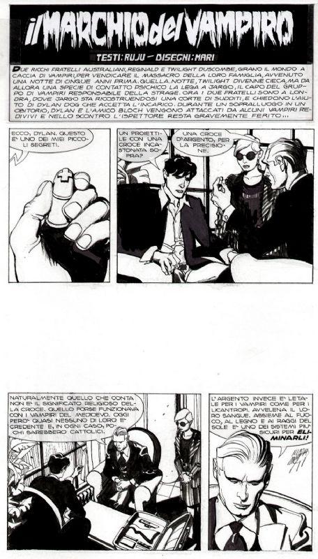 Mari - Dylan Dog n.181 - Title page Comic Art