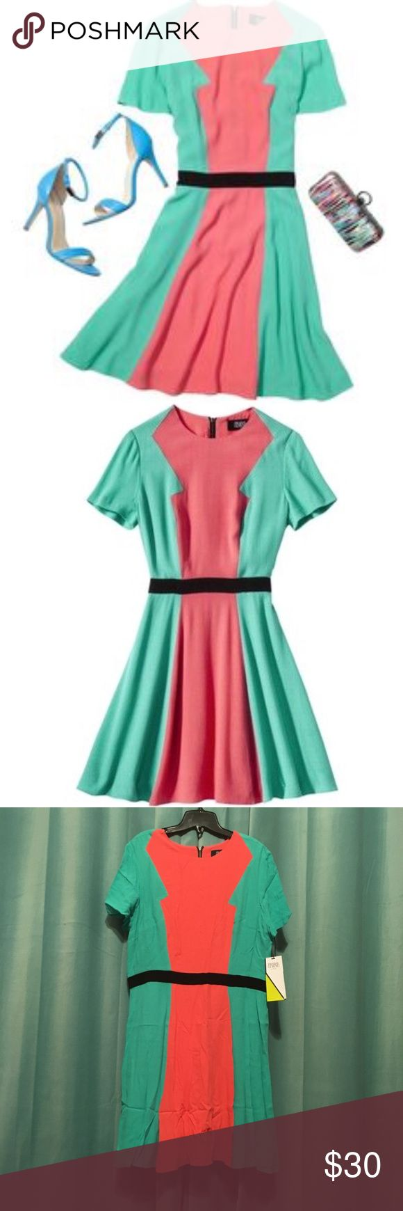 ⭐️HOST PICK⭐️Prabal Gurung@Target NWT Dress- SZ 16 Prabal Gurung @ Target 60's Style Teal, Coral & Black Colorblock Dress - Size 16 - NEW W/ TAGS & NEVER WORN!  This dress is so cute & flattering!  I bought this a while back when Prabal Gurung's super popular collab with Target came out & I managed to snatch one up before it sold out!  Sadly it didn't fit right, so my loss is your gain!  Join the ranks of fashionista by purchasing this awesome dress today! Prabal Gurung Dresses