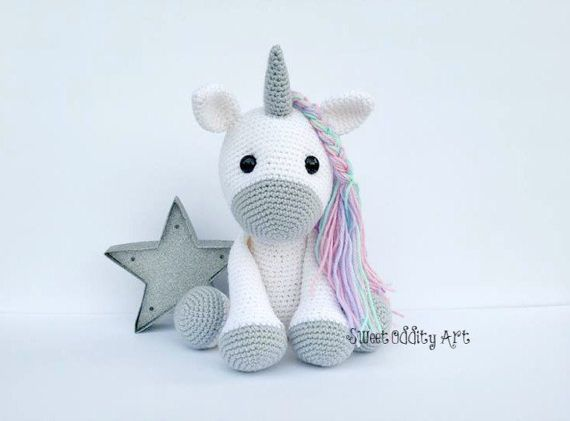 unicorn crochet pattern, unicorn pattern, crochet pattern von SweetOddityArt