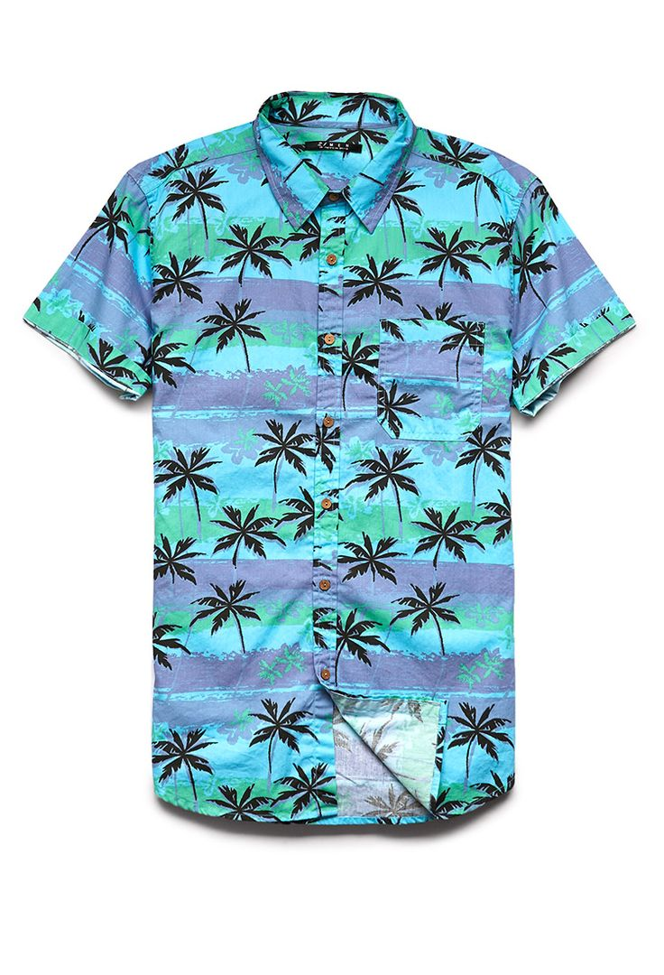 Palm Tree Cotton Shirt | 21 MEN #21Men #ForeverFest #Tropical