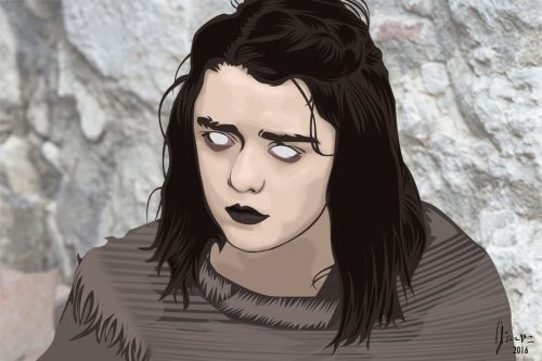 Frustrated Blind Arya Stark