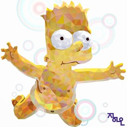 illust illustrator illustration animation simpsons bart